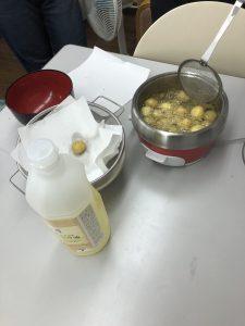 ジャガイモ素揚げ調理