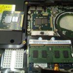 ノートPCのCPU交換直前